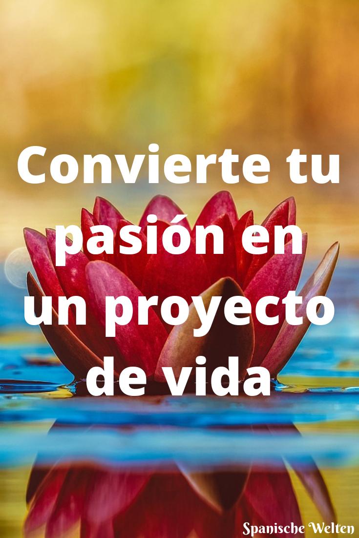 Convierte tu pasion en un proyecto de vida