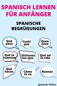 Hallo auf Spanisch - Pinterest Grafik