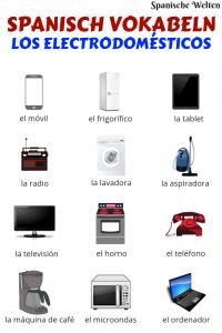 Spanisch Vokabeln Elektrogeräte