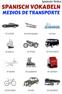 Spanisch Vokabeln Fahrzeuge