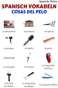 Spanisch Vokabeln Friseur Utensilien