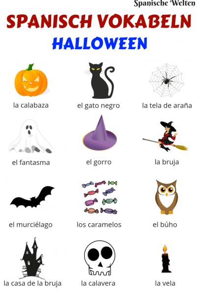 Spanisch Vokabeln Halloween