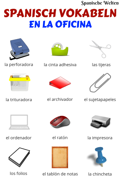 Spanisch Vokabeln Im Büro