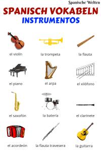 Spanisch Vokabeln Instrumente
