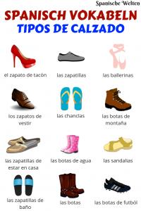 Spanisch Vokabeln Schuhe
