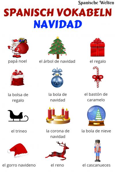 Spanisch Vokabeln Weihnachten