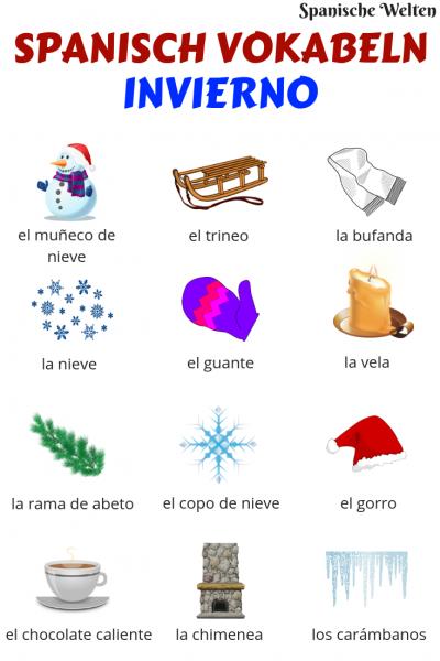 Spanisch Vokabeln Winter