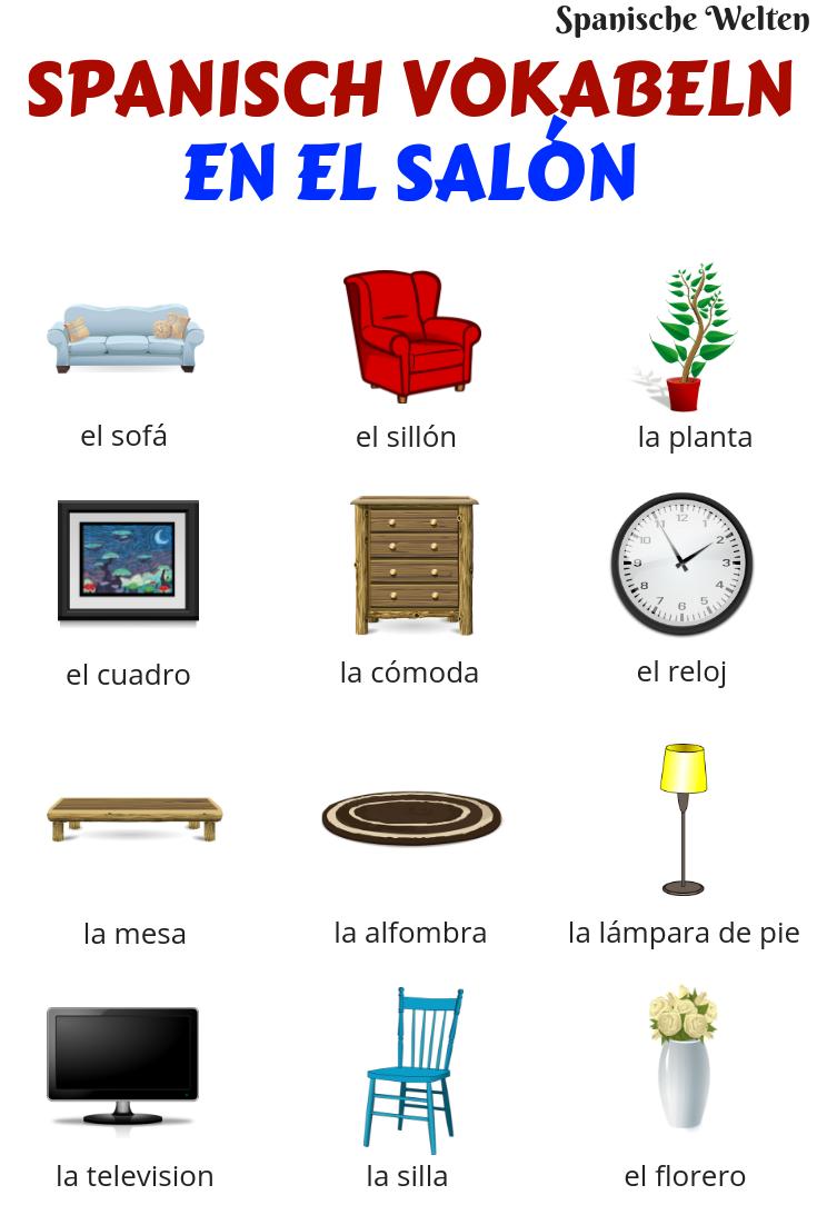 Spanisch Vokabeln Wohnzimmer