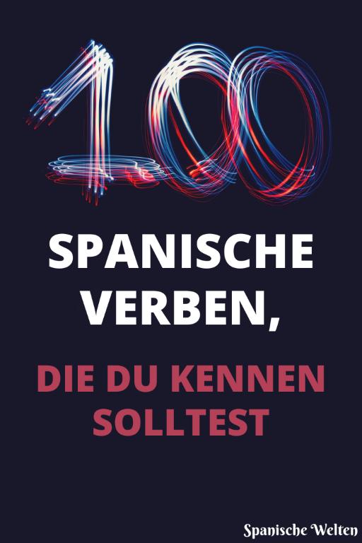 Spanische Verben - Pinterest Grafik