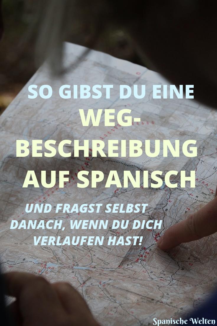 Wegbeschreibung Spanisch