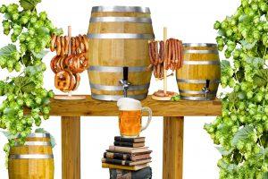 Brezel, Wurst und Bier